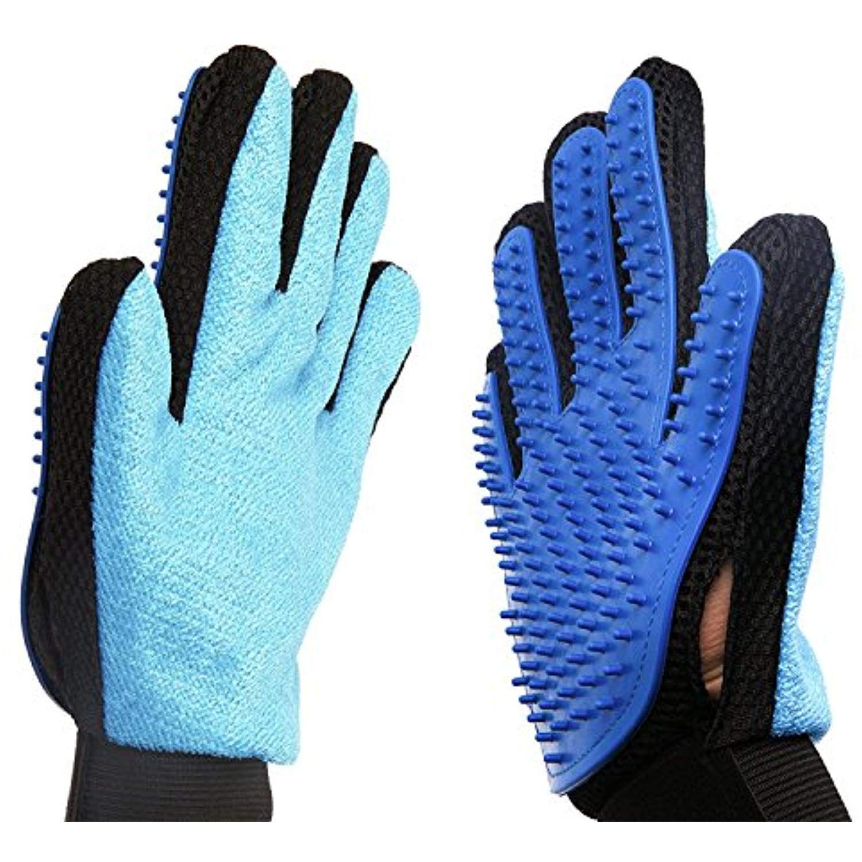 2in1 Pet Glove Grooming Tool Furniture Pet Hair Remover