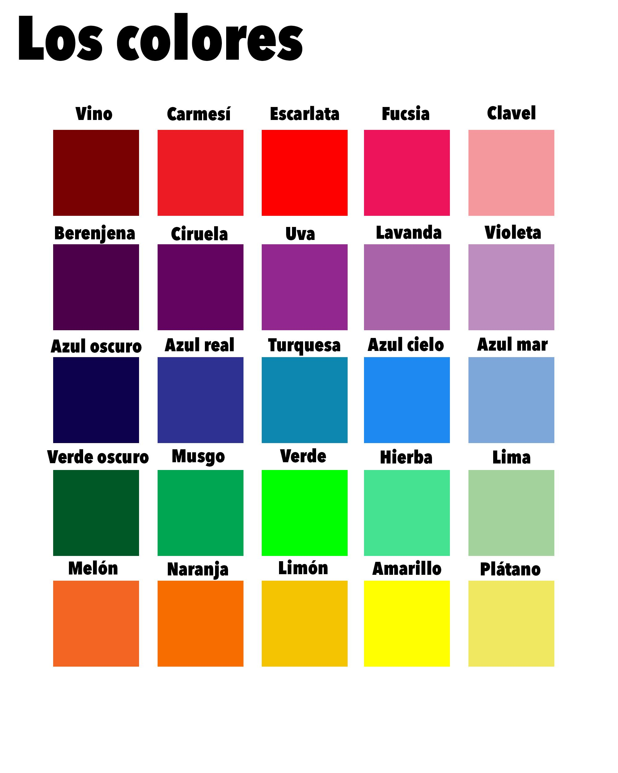 There Are So Many Different Colours What Is Your Favourite Learnspanish Learning Spanish Teach Yourself Spanish Study Spanish [ 2500 x 2000 Pixel ]