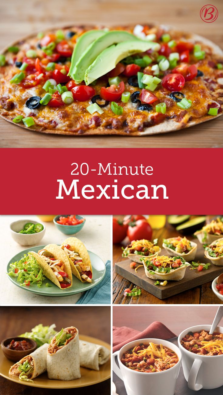 Dinner in 20 Dinner Made Easy Mexican food recipes