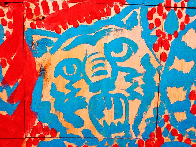 RICARDO·CAVOLO DIARY: Tiger head (detail from mural).
