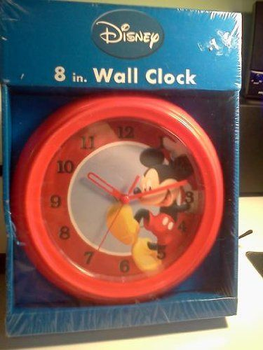 Disney Mickey Mouse 8 Inch Wall Clock By East West Distributing Company 19 95 Kid Room Decor Home Kitchens Kids Kitchen