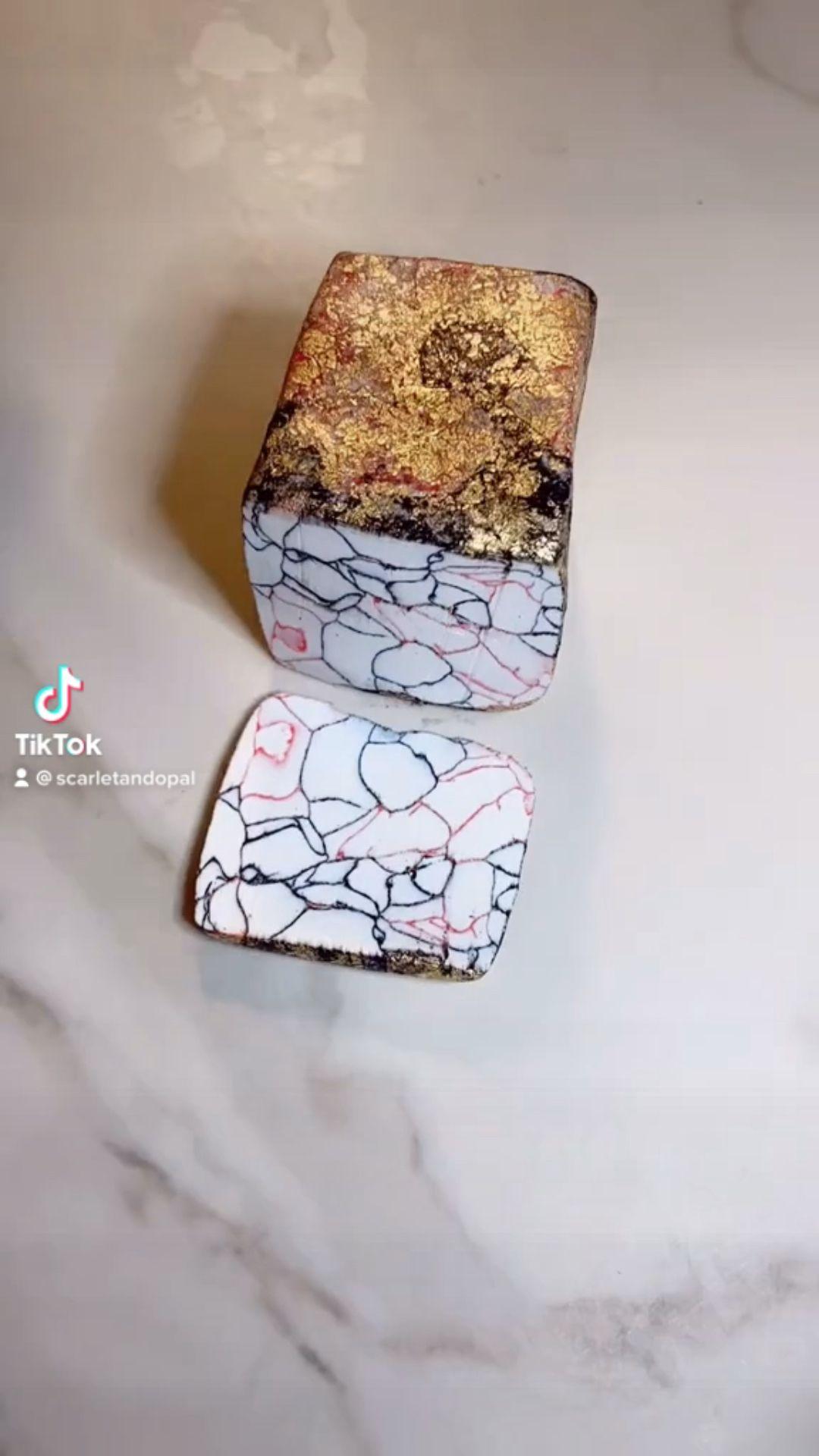 White Marble Clay Earrings