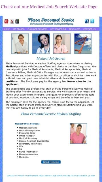 Medical Job Medical Jobs Receptionist Jobs Staffing Agency