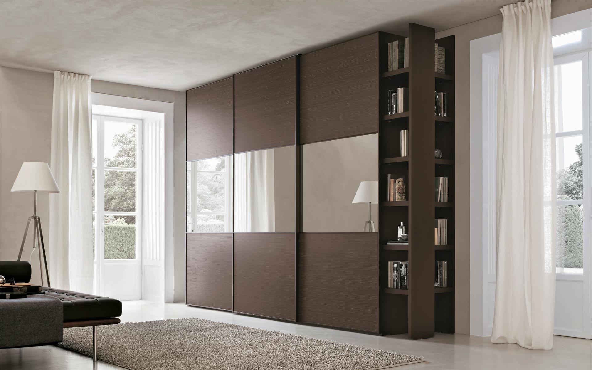 Шкаф купе в гостиную с боковыми полками | Дизайн спален, Комната ...
