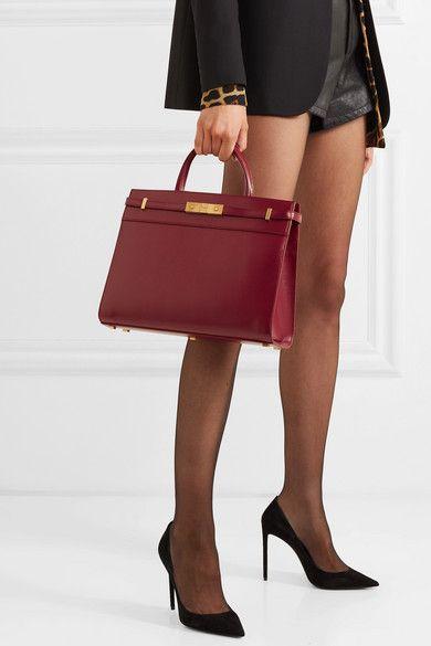 389bc3d2a0c Saint Laurent   Manhattan small leather tote   NET-A-PORTER.COM   Fashion in  2019   Leather, Saint laurent, Bags
