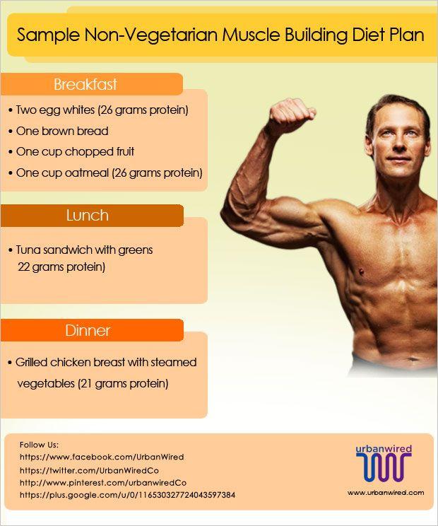 Non vegetarian muscle building diet plan sample also rh pinterest