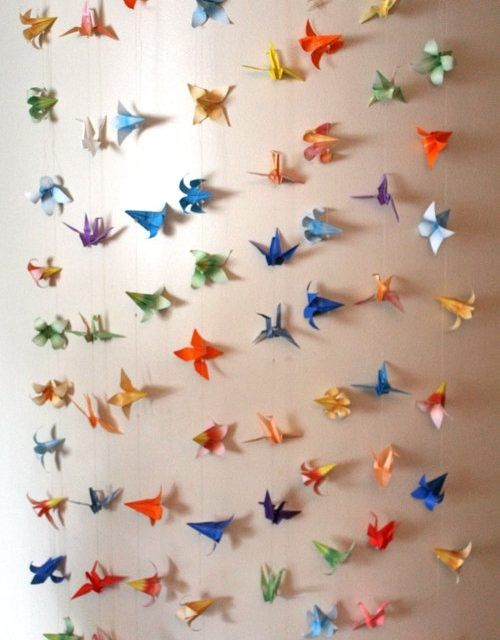Delightful Paper Crane Garland