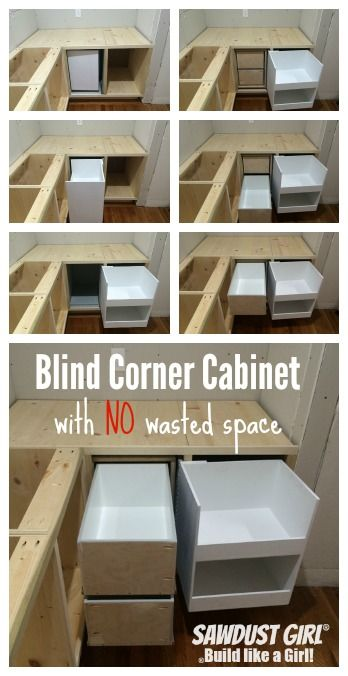 Diy Corner Cabinet With No Wasted Space Sawdust Girl Corner Kitchen Cabinet Blind Corner Cabinet Kitchen Corner