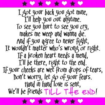 Till The End · Best Friendship QuotesFriend ...