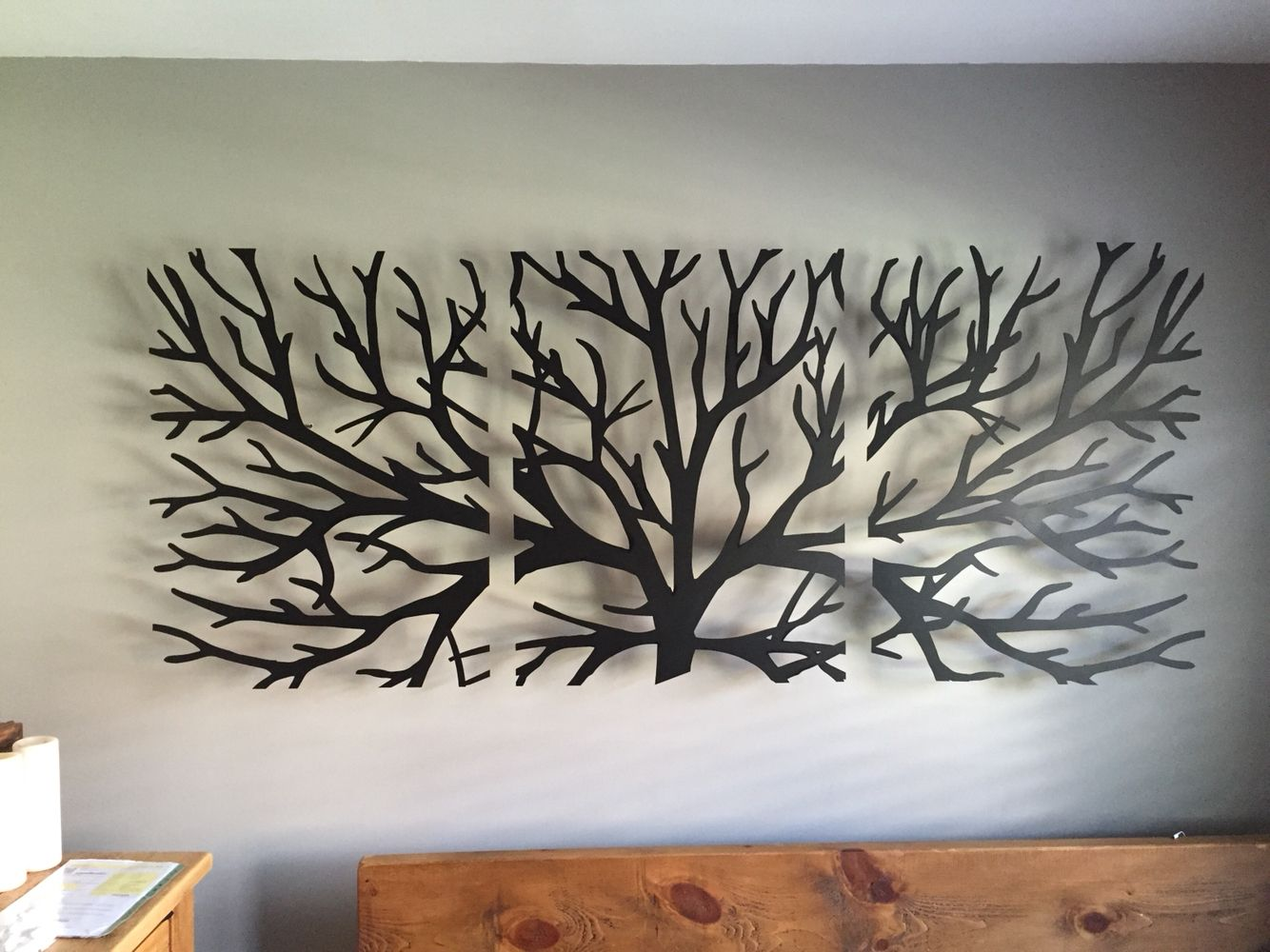 Image Result For Textured Tree Headboard Metal Tree Wall
