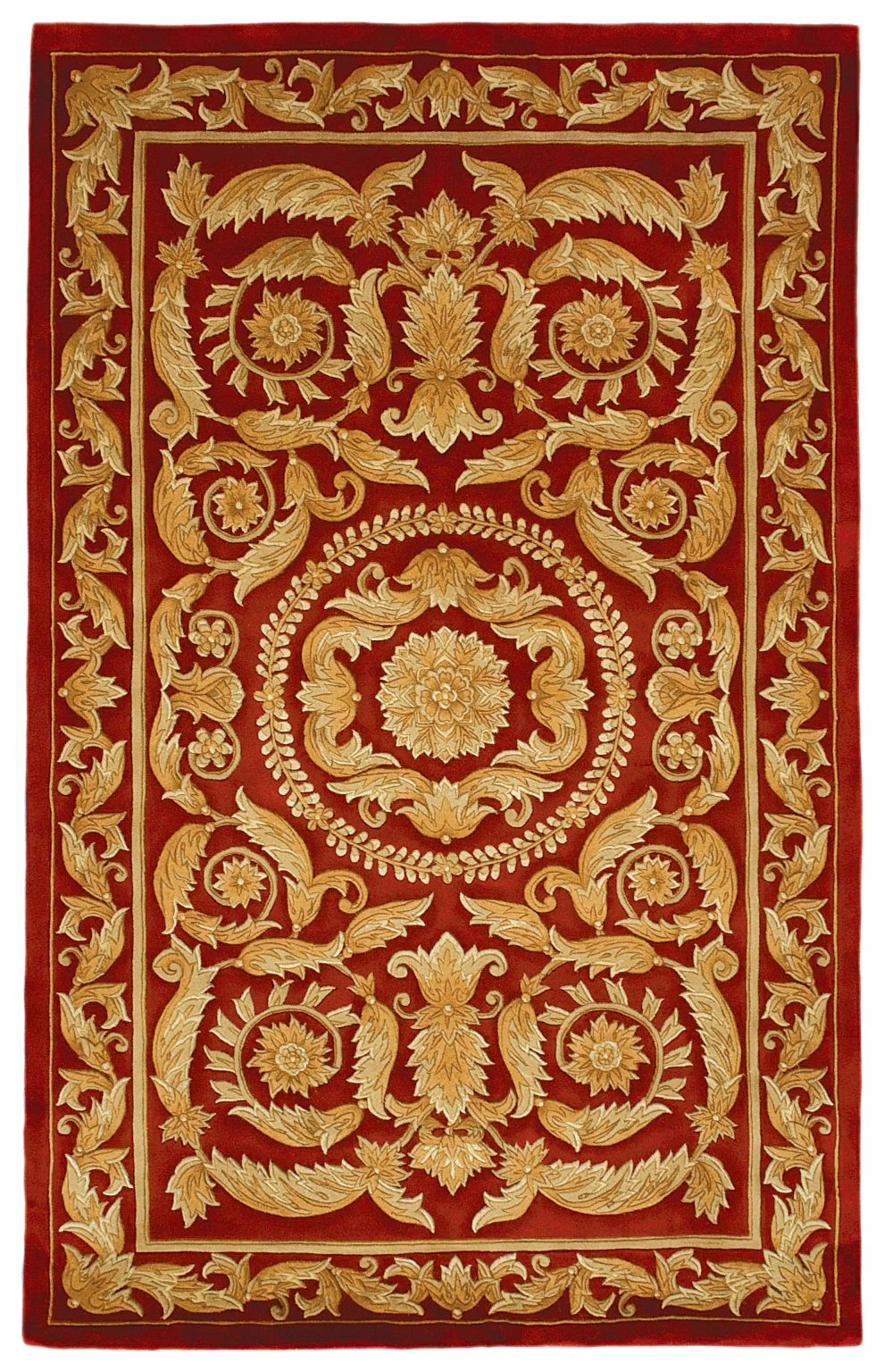 Red And Gold Chinese Inspired Design Rug