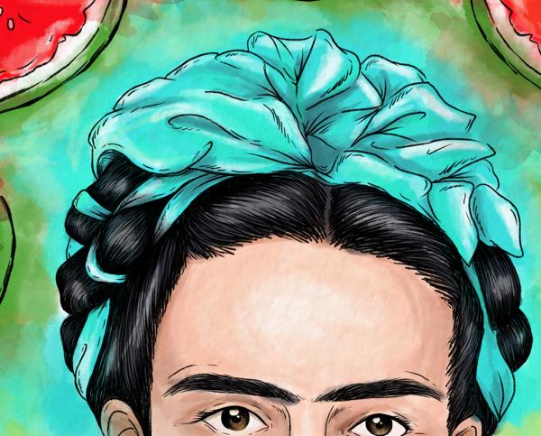 Frida Kahlo Pinturas Para Colorear: Ilustración I - Frida Kahlo On Behance