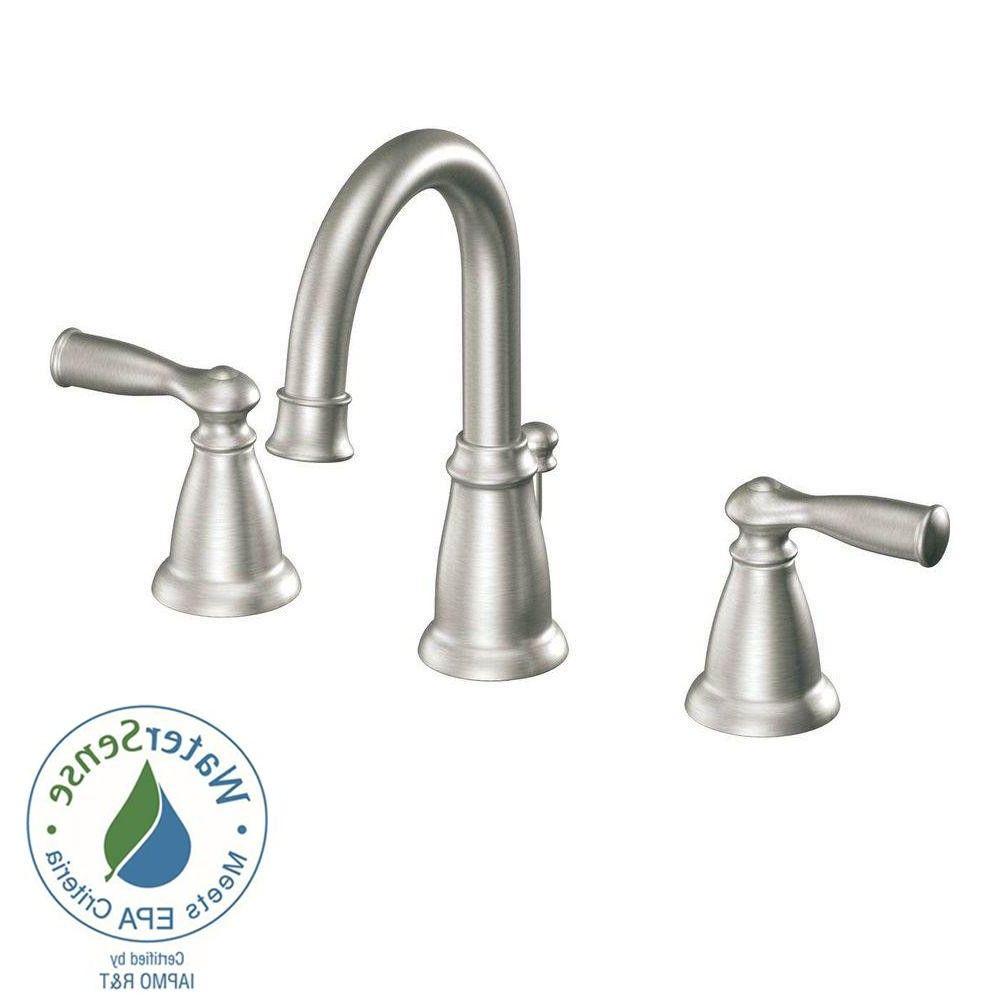 moen banbury 8 in widespread 2 handle high arc bathroom faucet in ...