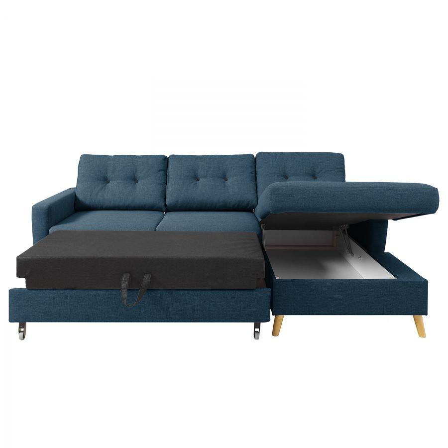 Ecksofa Sola Flachgewebe Couch Mit Bettfunktion Big Sofa Mit