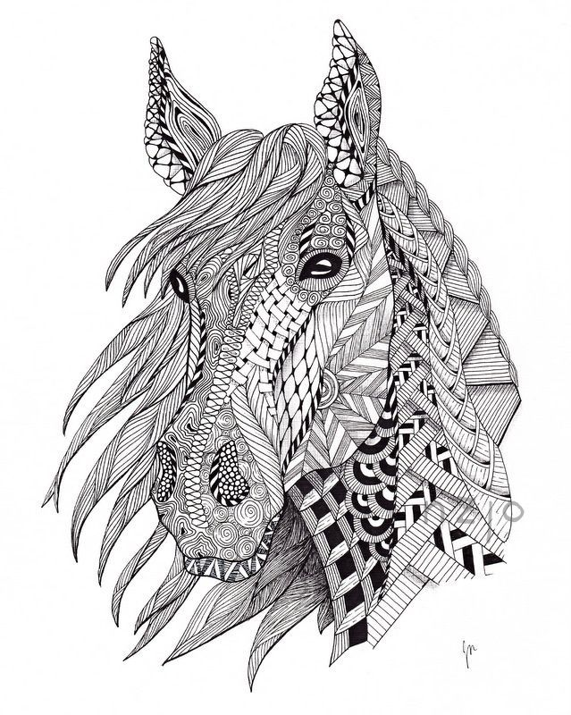 zentangle horse - Google Search | For the kids | Pinterest | Pintar ...