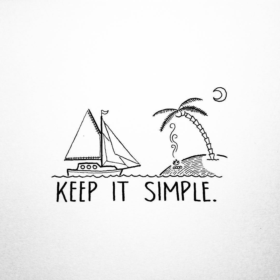 Live Life With No Regrets Tattoo Sketches Drawing Art: Keep It Simple. By David_rollyn
