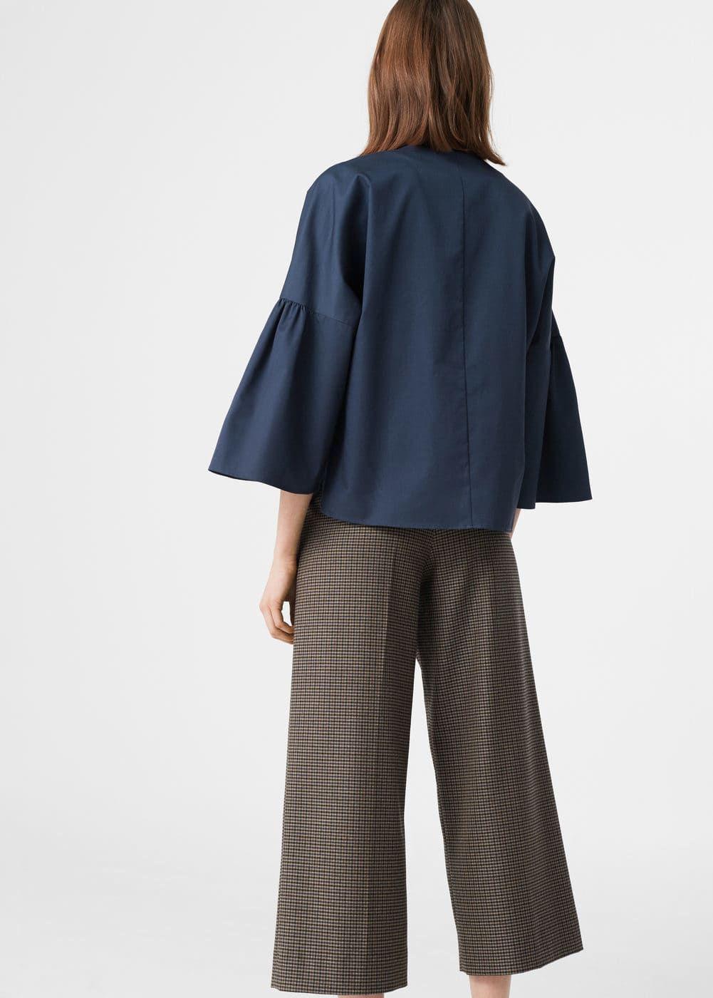 Flared sleeves cotton blouse | MANGO