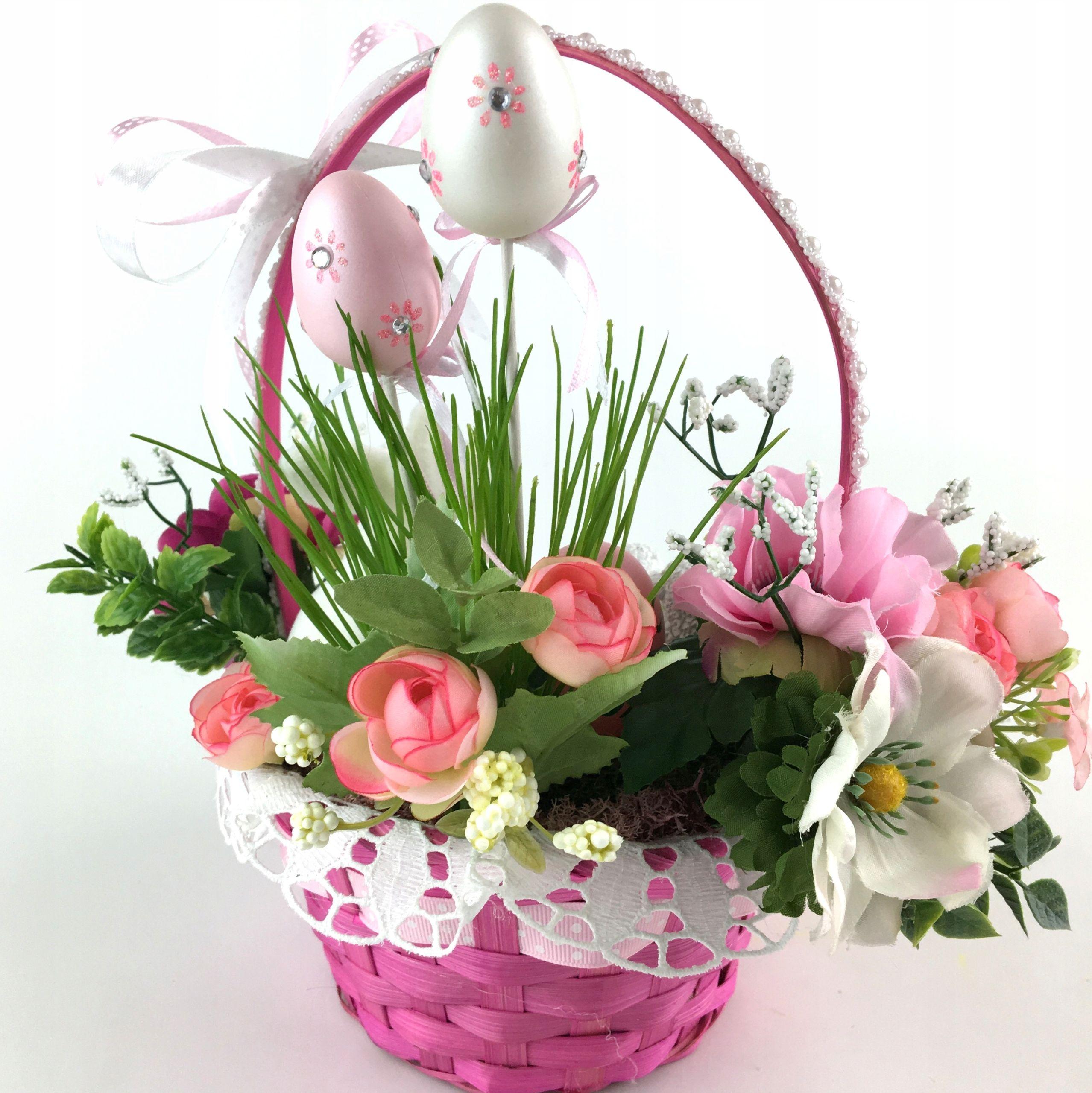 Koszyczek Dzieciecy Stroik Wielkanocny Prezent 7953183441 Oficjalne Archiwum Allegro Decor Wreaths Hoop Wreath