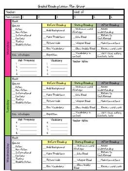 A Cute Guided Reading Lesson Plan Includes Before During TpT - Guided reading lesson plan template 4th grade