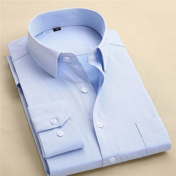 Long Sleeve Shirt Men 2017 Autumn Fashion Designer High Quality Solid Shirt Non Iron Slim Fit Business Shirts Formal