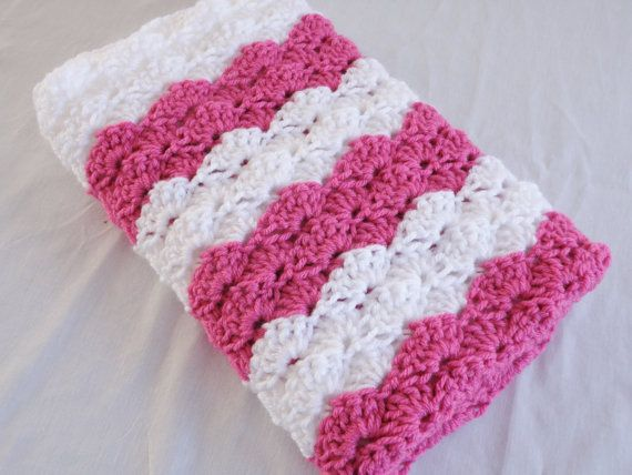 Ready To Ship Vibrant Rose Pink and White by SouthernStitchesCo, $28.00
