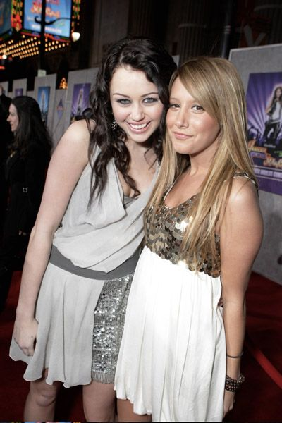 Miley with Ashley Tisdale 7/12