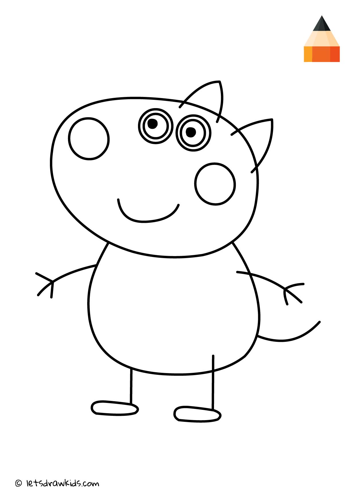 Coloring Page Peppa Pig Danny Dog Peppa Pig Coloring Pages Peppa Pig Painting Peppa Pig