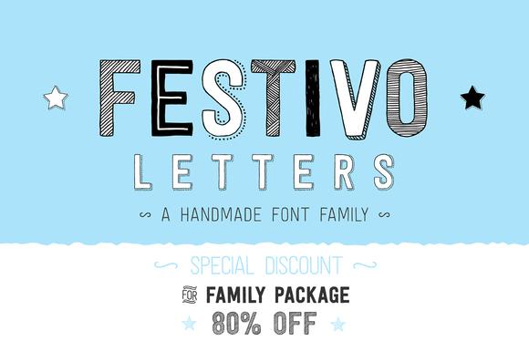 Festivo Letters by _ahmetaltun_ on Creative Market