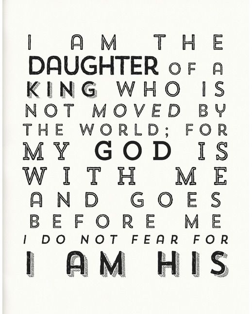 """22""""x28"""" I Am His Poster - White"""