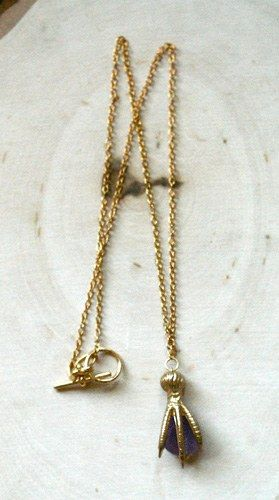 Claw Amethyst Necklace