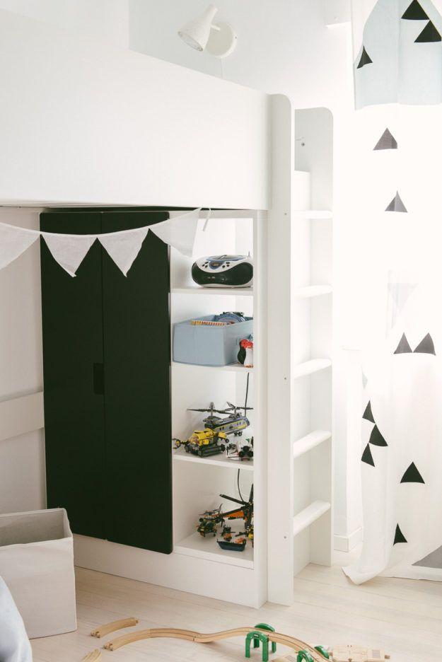Kinderzimmer ideen ikea hochbett  Stuva Hochbett Ikea Schwarz | Kinderzimmer | Pinterest | Stuva ...