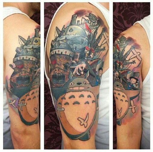 0993455329515 Studio Ghibli tattoo, Tattoo - Miyazaki, Studio Ghibli Half Sleeve soon to  be full sleeve