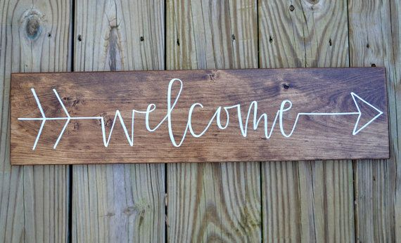 Hey, I found this really awesome Etsy listing at https://www.etsy.com/listing/258407327/hand-lettered-wood-welcome-sign