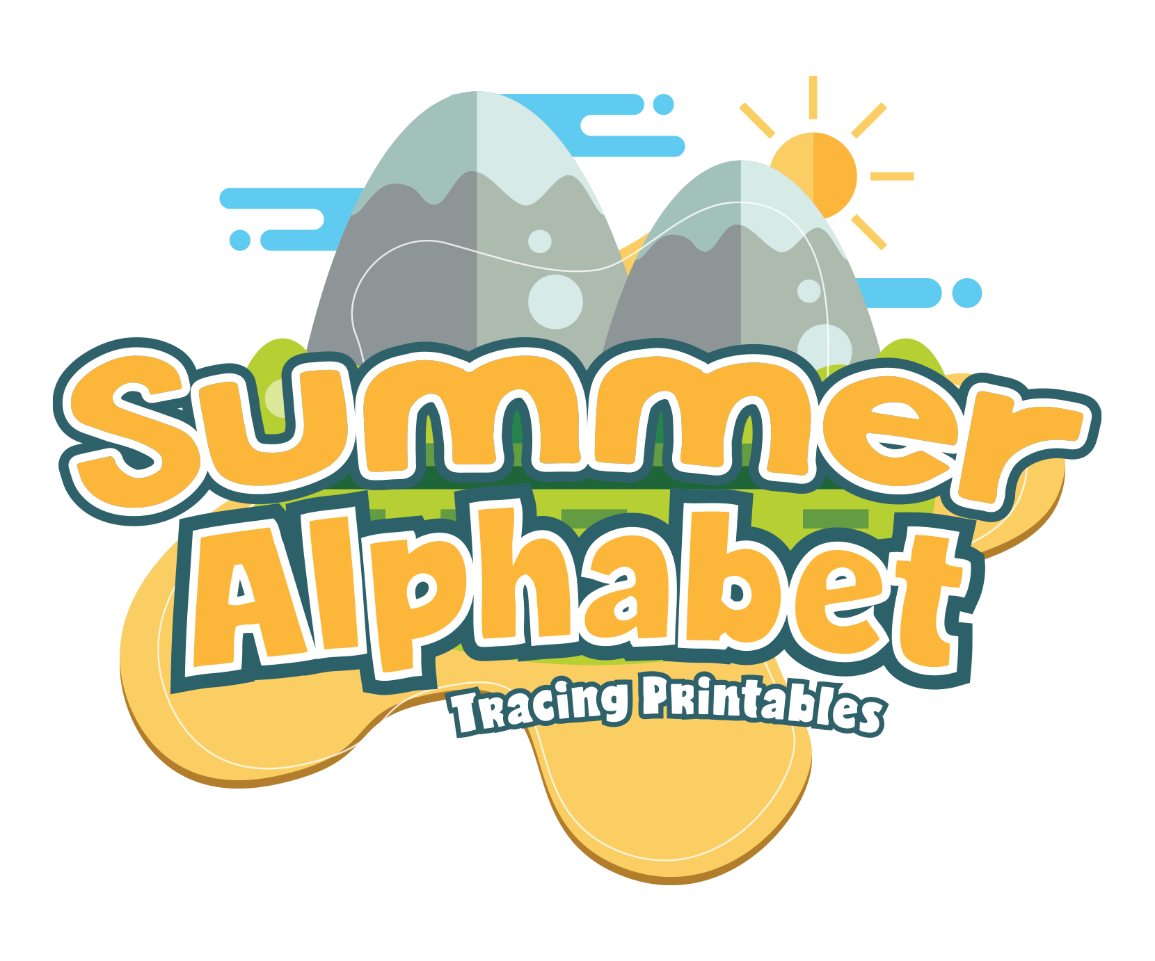 Summer Alphabet Letter Tracing Pack For Preschoolers
