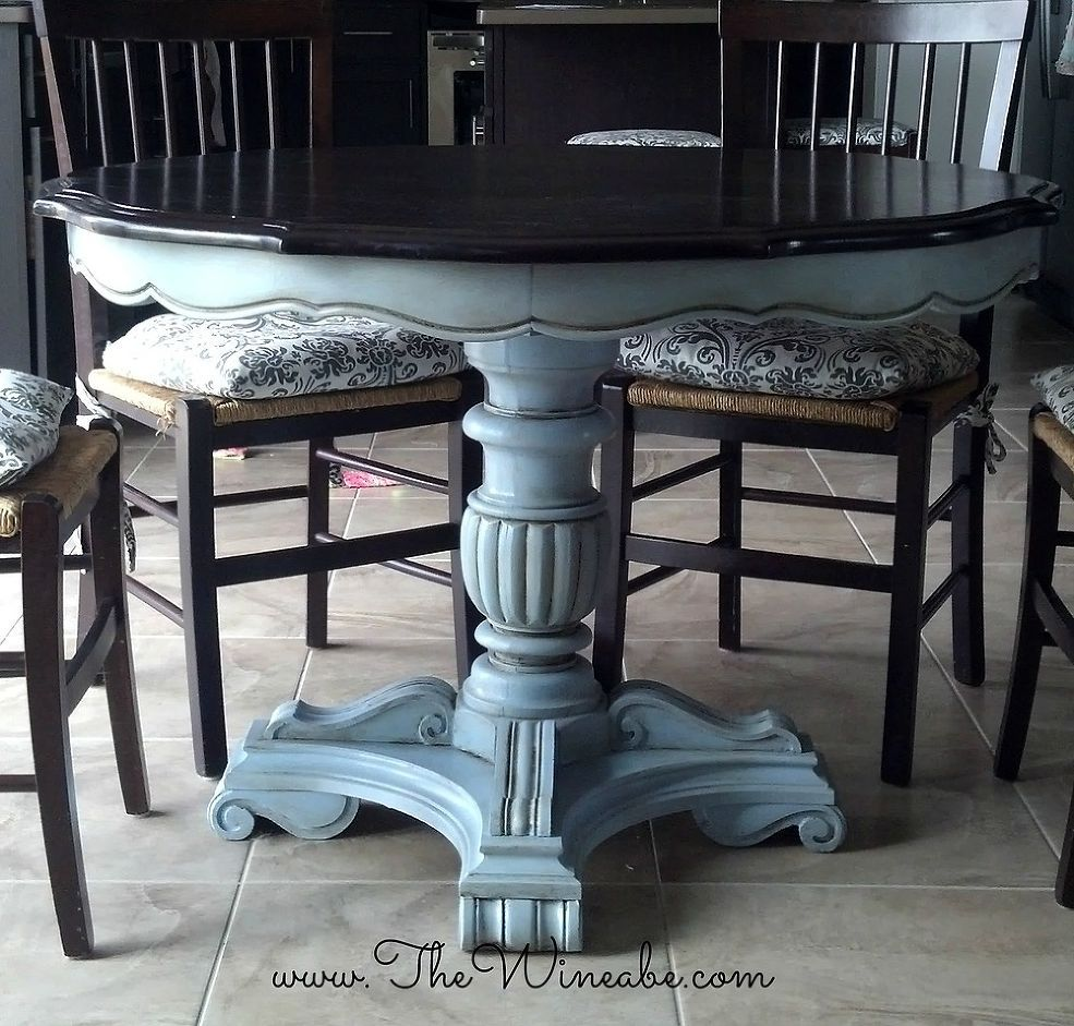 refinish kitchen table Refurbished Craisglist Kitchen Table With Annie Sloan Chalk Paint
