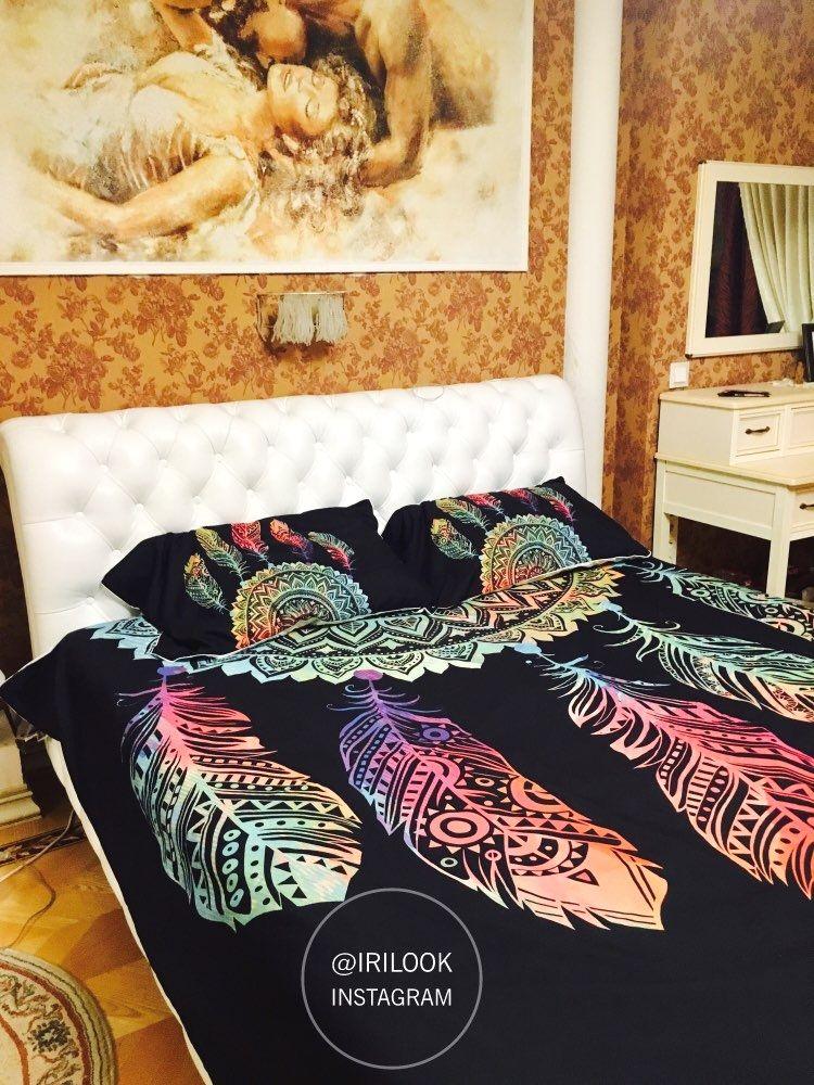 Colorful Dreamcatcher Bedding Set Boho Bedding Sets Boho Bedding Bohemian Bedding Sets