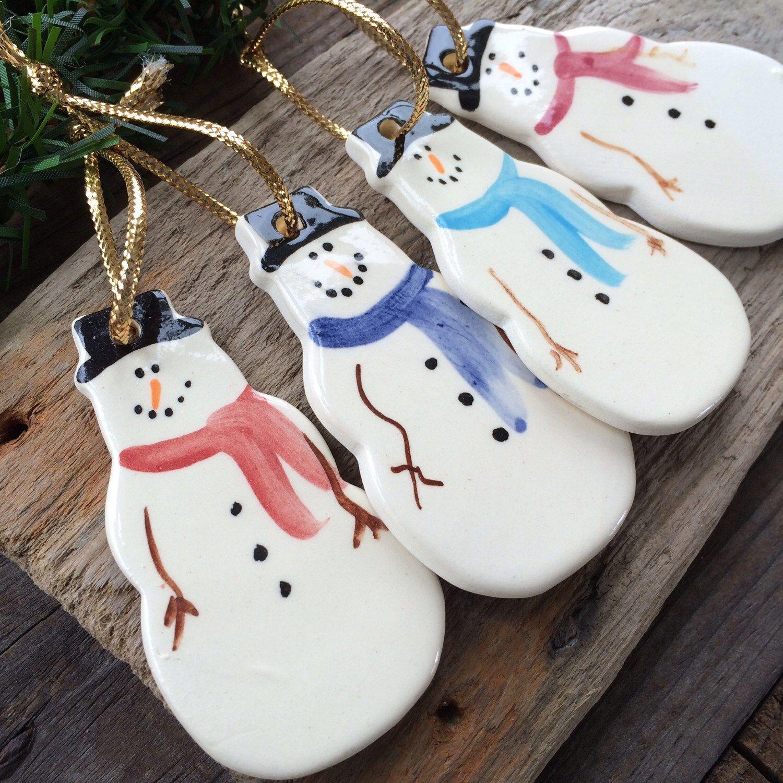 Snowman Ornament, Frosty Snowman Ornament, Handmade ...