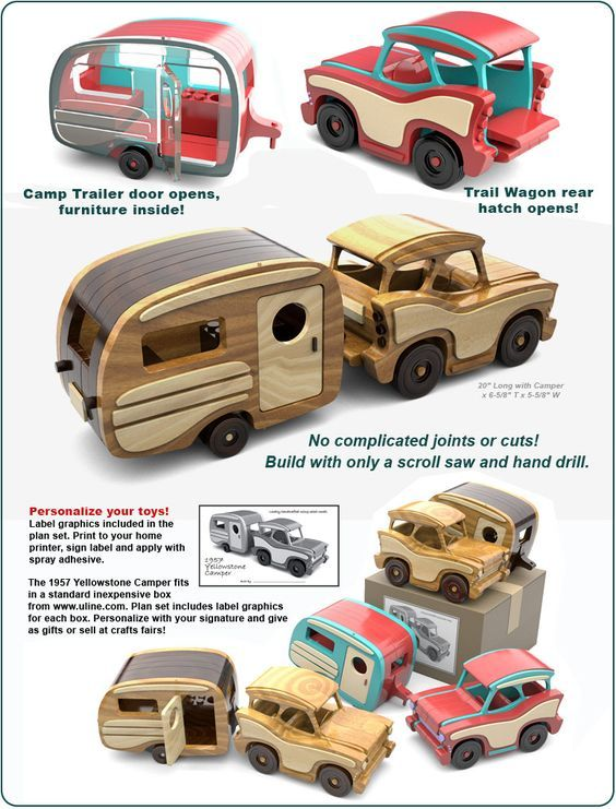 Scroll Saw Magic 1957 Yellowstone Camper Wood Toy Plans