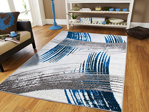 Luxury New Fashion Art Collection Contemporary Modern Rugs Splat Blue Black  Cream Gray Large 8x11 Floor Rugs For Living Room And Kitchen 8x10 Rugs  Clearance ...