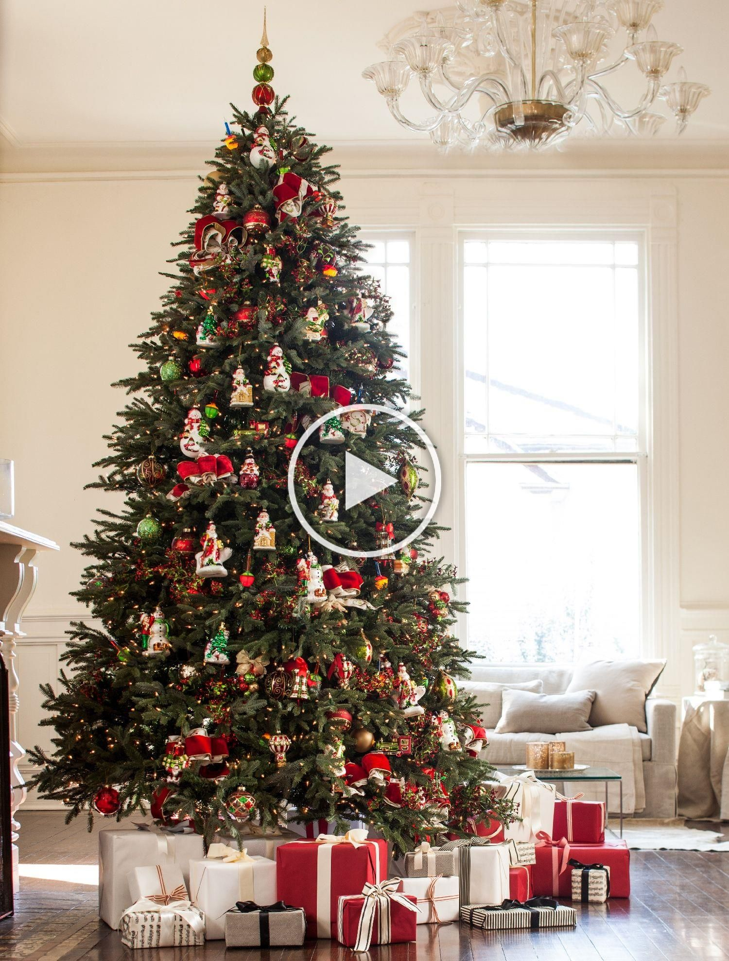 Full Width Fraser Fir Artificial Christmas Trees with Easy