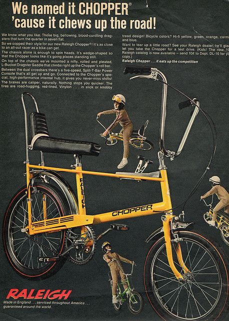 de29f3f8105 usa raleigh chopper mag add 1969 by chopperwazza, via Flickr | The ...