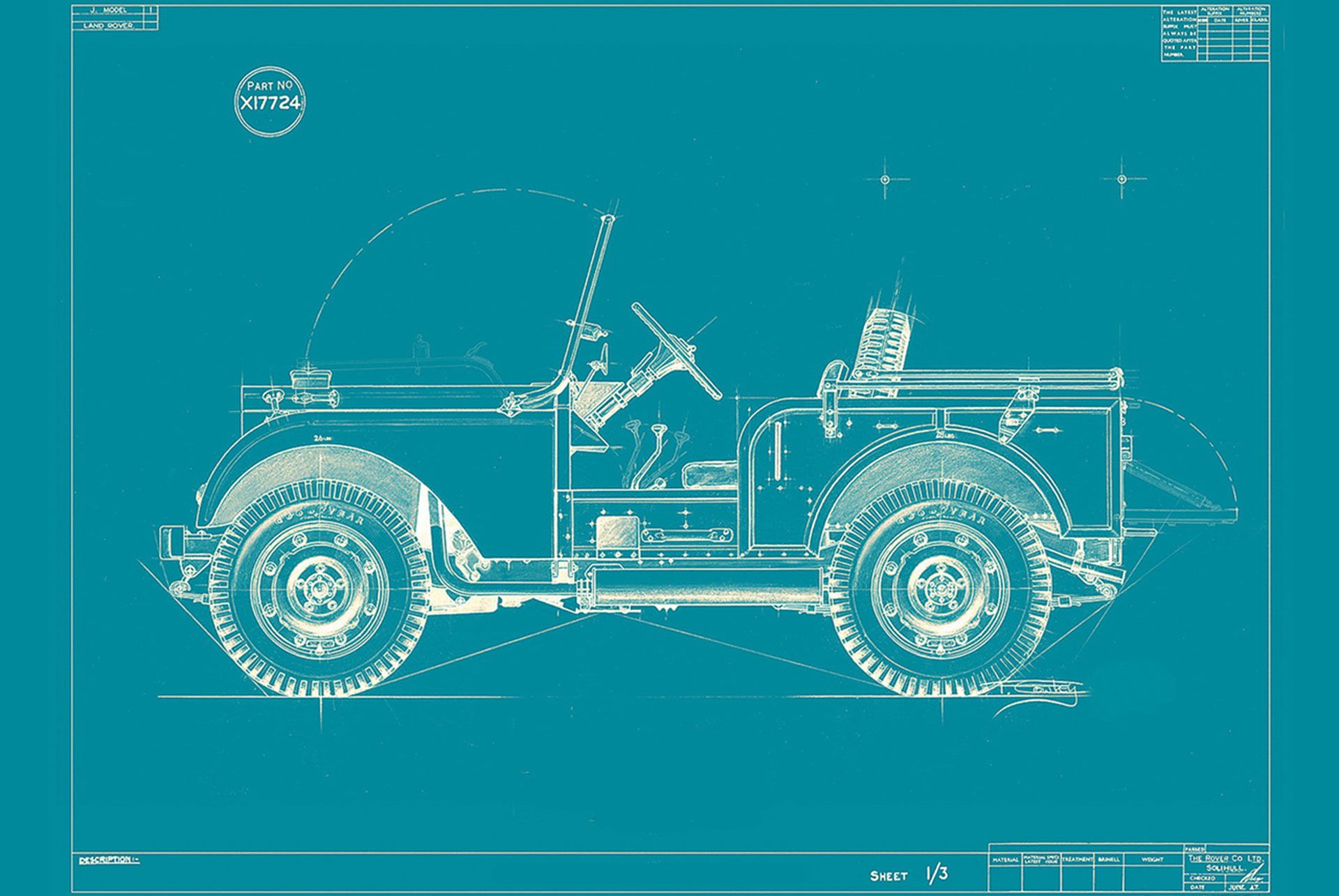 Willy S Jeep Type Vehicle Blueprint