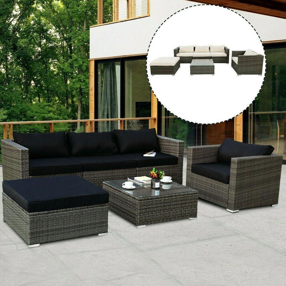 Details About Rattan Garden Sofa Set Corner Outdoor Indoor Sectional Patio Seat Furniture 6pc In 2020 Rattan Furniture Set Patio Furniture Sets Trex Outdoor Furniture