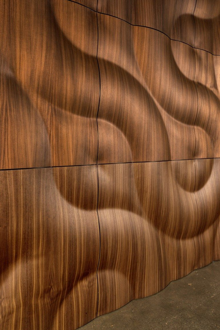 Modular wooden 3D Wall Panel BURAN by MOKO Wooden Furniture
