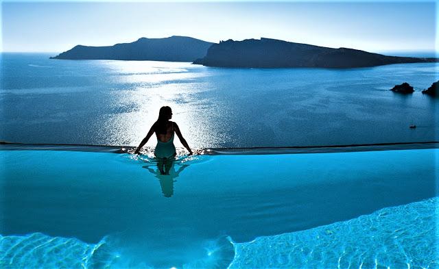 Perivolas Hotel Infinity Pool Het Mooiste Zwembad Zwembad Achtertuin Zwembaden Infinity Pool