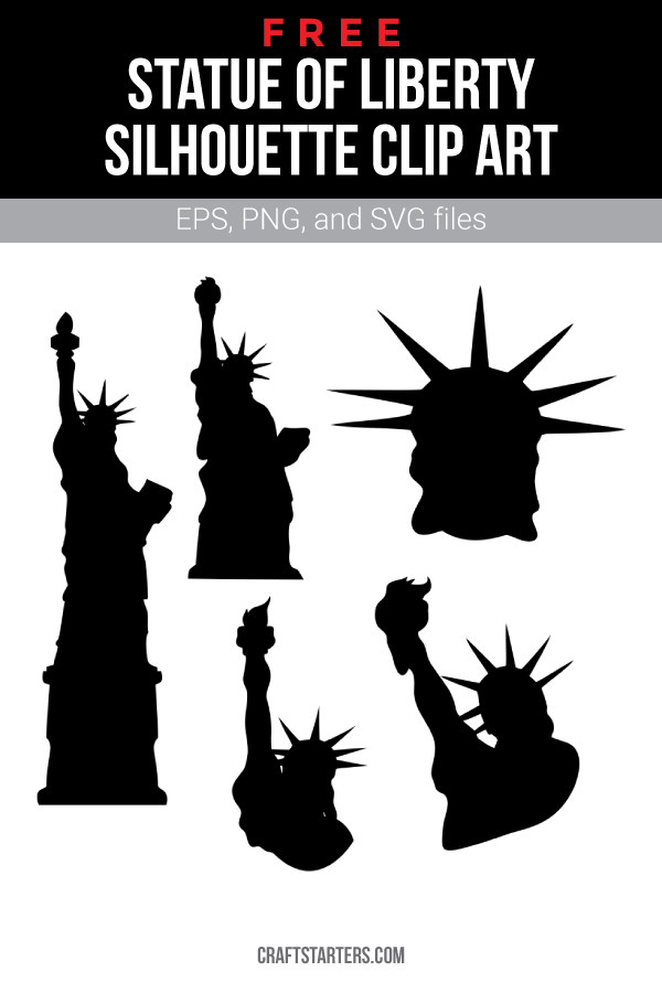 Free Statue Of Liberty Silhouette Clip Art Silhouette Clip Art Clip Art Clip Art Vintage