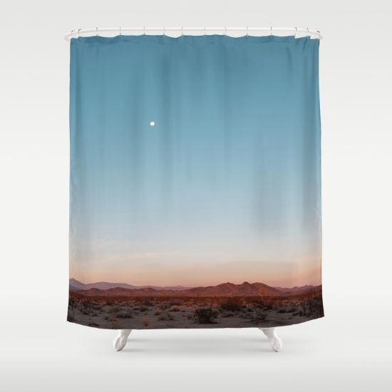 Desert Sky With Harvest Moon Shower Curtain Shower Curtain