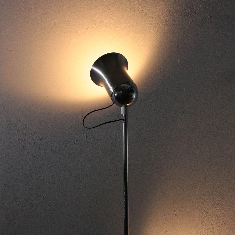 Stehlampe Metall Aluminium Vintage Italien 70er Jahren Floor