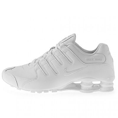d96d219ae41 Nike Shox Nz Mens 378341-128 White Leather Athletic Running Shoes Size 9.5