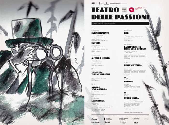 Immagine di #Igort per la Stagione 2010-11 del #Teatro delle Passioni di #Modena
